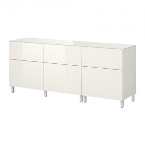 IKEA besta storage combination with doors and drawers