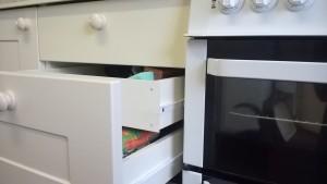 The hidden drawer arrangement